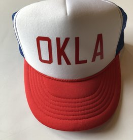 OKLA Red White and Blue Foam hat