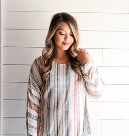 Final Touch Striped Dolman Sleeve