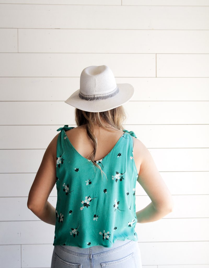Green Days Floral Top