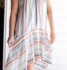 Stripe High Low Maxi