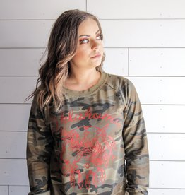 Camo Shield Boyfriend Sweatshirt