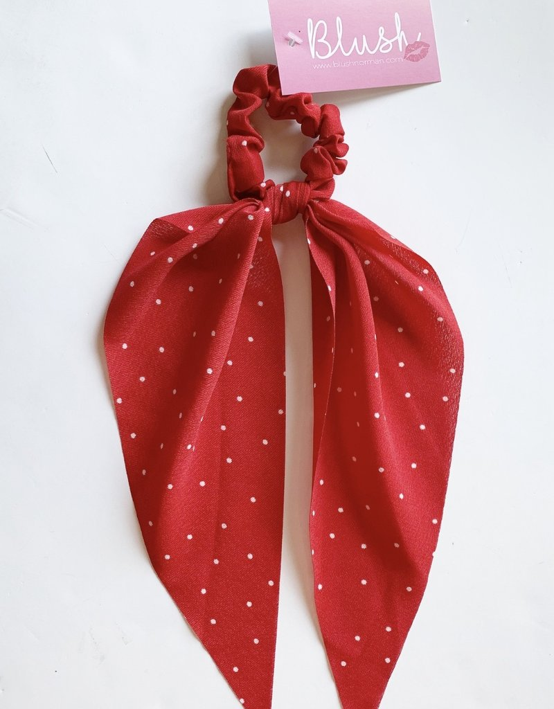 Red White Polka Dot Hair Scarf
