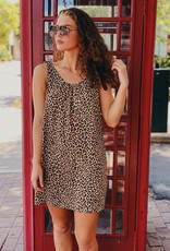 Entro Leopard Tie Sleeve Dress