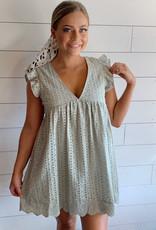 Sage Lace Dress Romper