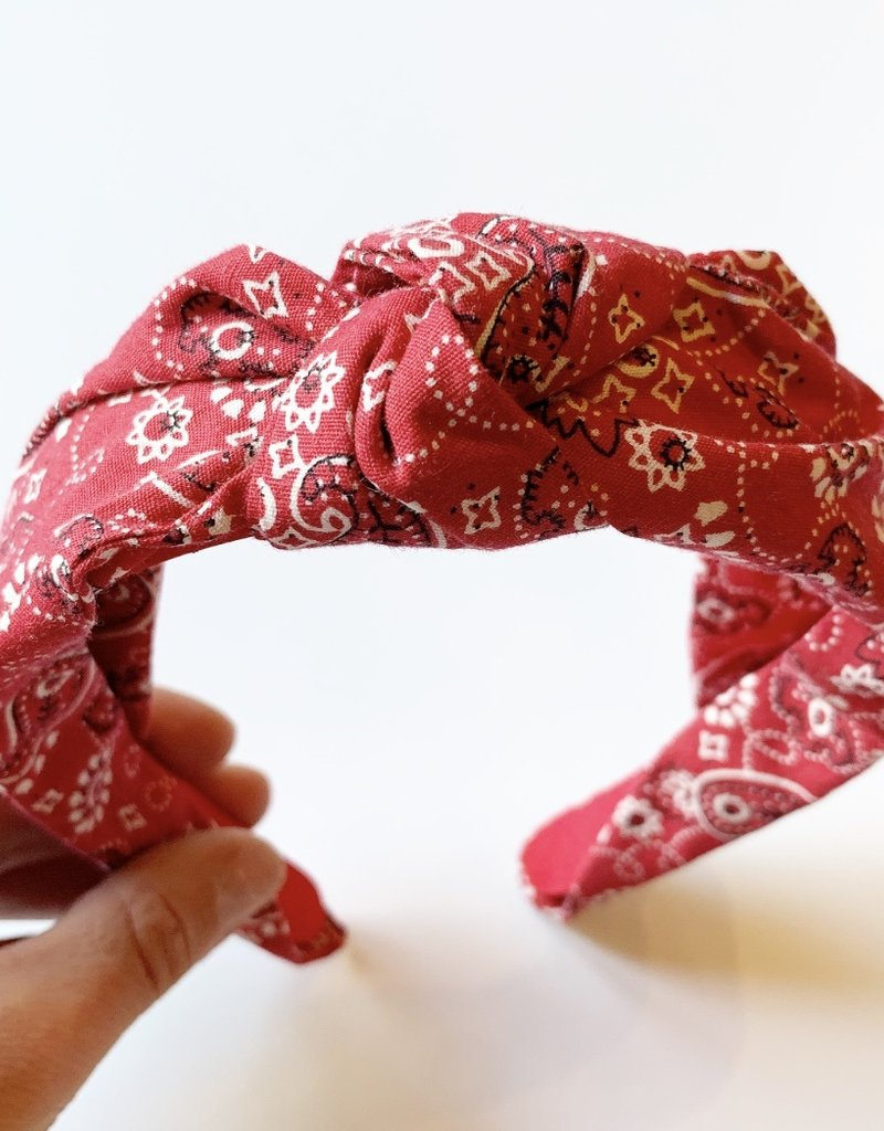 Red Bandana Headband
