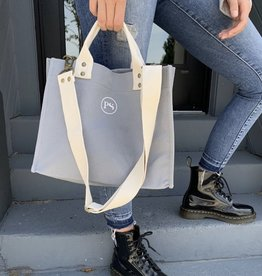 Grey Canvas Crossbody