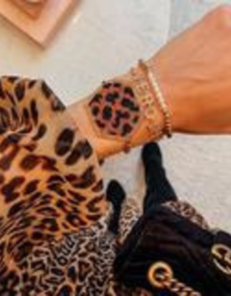 Leopard Hex Adjustable Bracelet