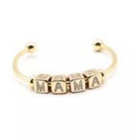 Mama Block Cuff Bracelet