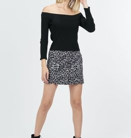 Grey Leopard Skirt