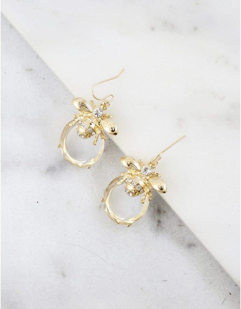 Pilcher Clear Stone Earring