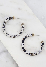 Claywell Animal Print Wrapped Hoop