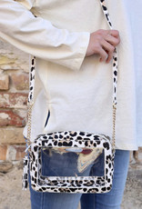 Rylee Clear Bag Ivory Leopard