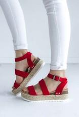 Lipstick Red Sandal