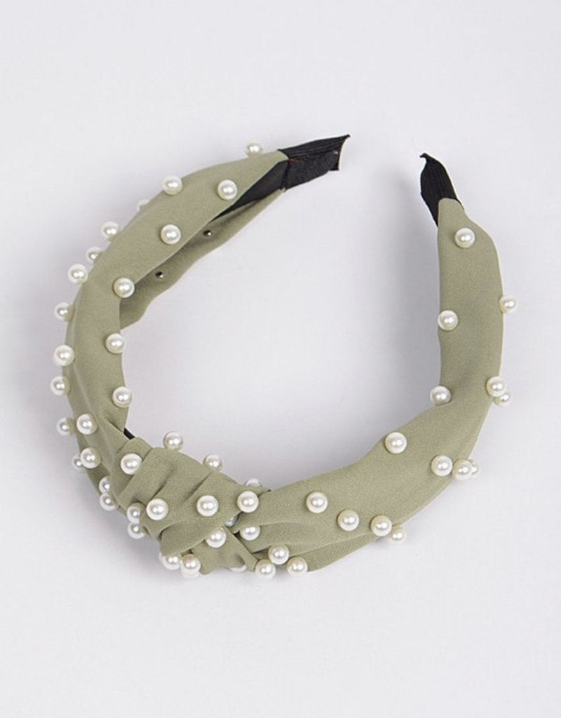 Sage Green Pearl Headband