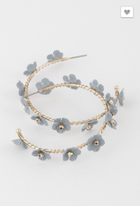 Hello Spring Dusty Blue Flower Earring
