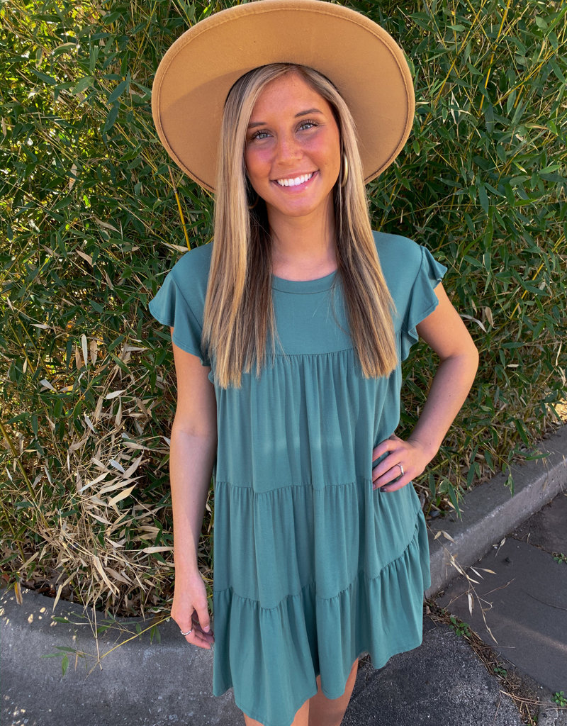 Teired Up Green Dress