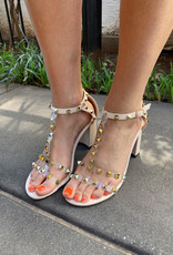 Clear Studded Heel