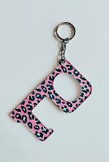 Hands Free Keychain Pink Leopard