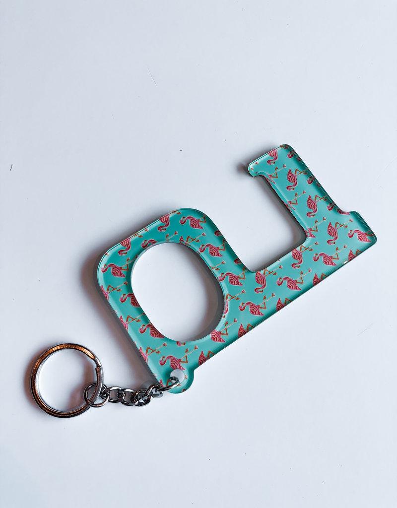 Hands Free Keychain Flamingo