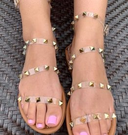 Clear Studded Sandal