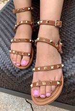 Brown Studded Sandal