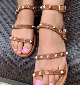 Brown Studded Sandal