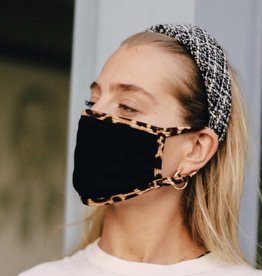 Black/leopard trim Mask