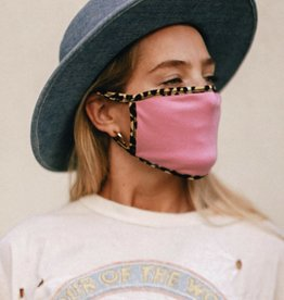 Pink/leopard trim Mask