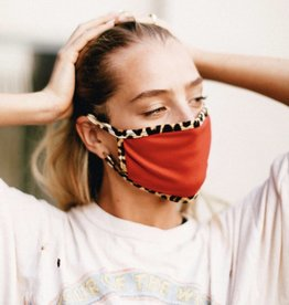 Red/Leopard Trim Mask