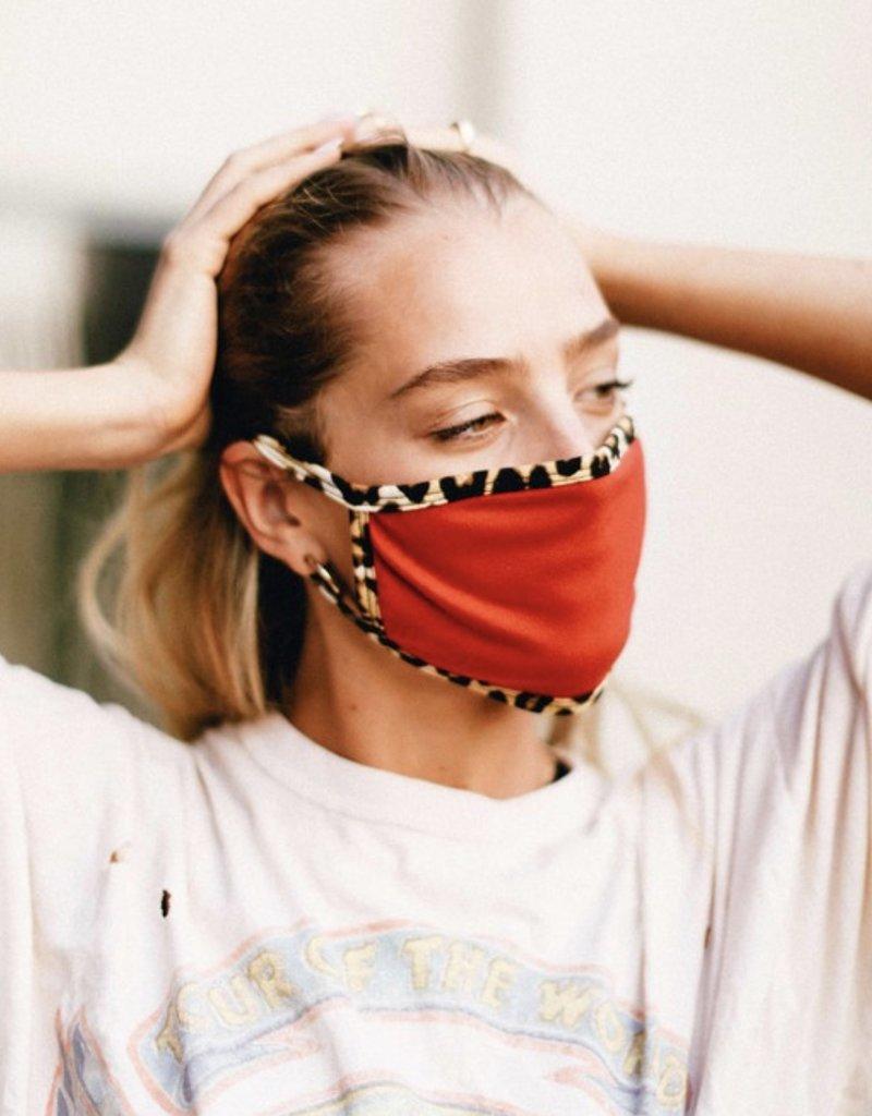 Red/Leopard Trim Mask