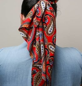 Red Ell Hair Scarf