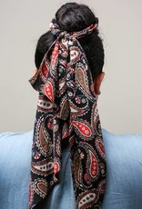 Black Ell Hair Scarf