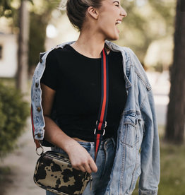 Faux Leather Camo Crossbody