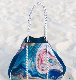 Geode-Blue Neoprene Bag