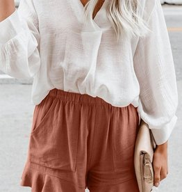 Rusty Ruffle Short