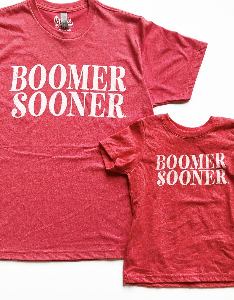 Simple Red Boomer Sooner Kids
