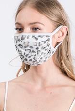 Heather Grey Leopard Mask