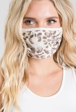 Taupe Leopard Mask