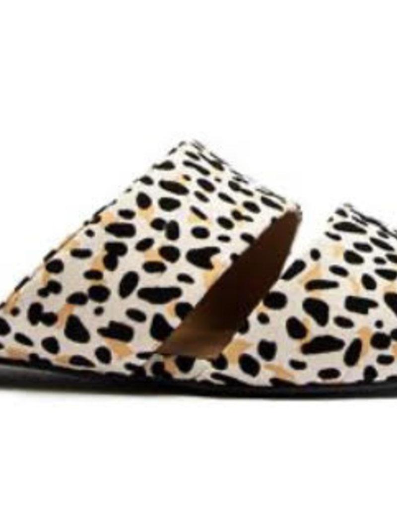 Nude/ Black Leopard Flats