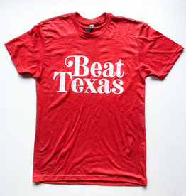 Beat Texas Red Tee