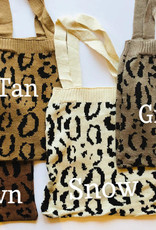 Kasey Knit Leopard Tote