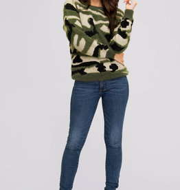 Soft and Sweet Camo Sweater