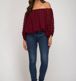 Wine And Dine Off the Shoulder Top