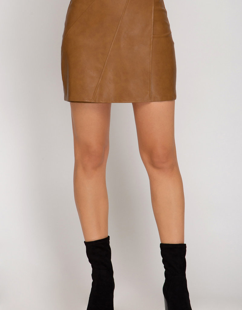 Uptown Girl Vegan Leather Skirt