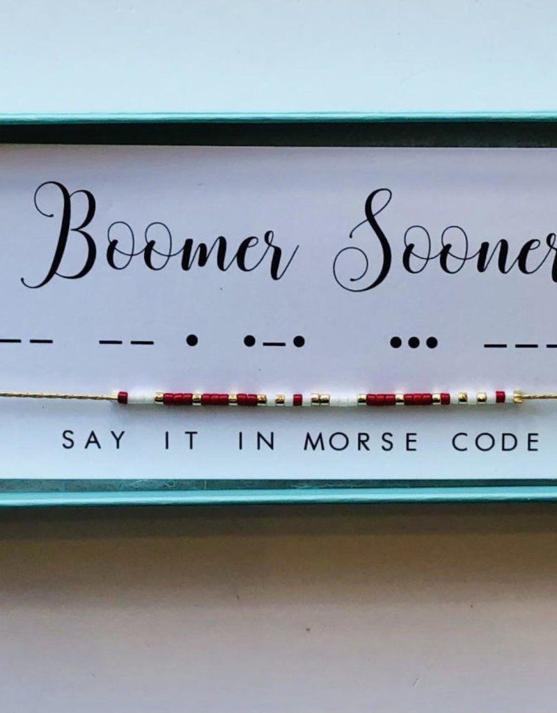 Morse Code Necklace-Boomer Sooner