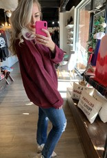 Crimson Just Be You Sweater