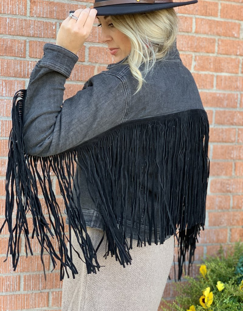 Black Fringe Dream Jacket