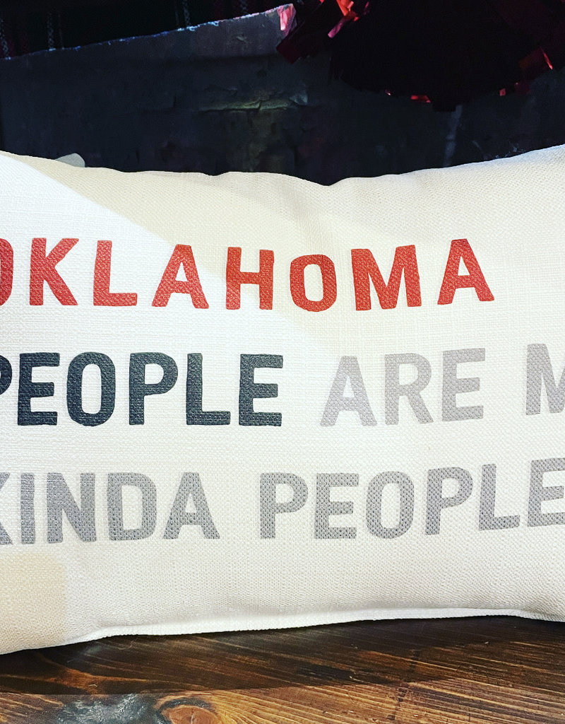 Oklahoma People are My People Pillow