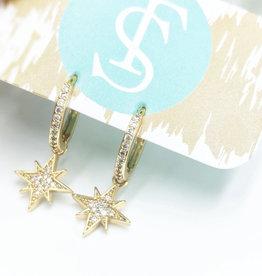 Gold Starburst Huggie