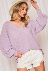 Lovely Lavender Waffle Top